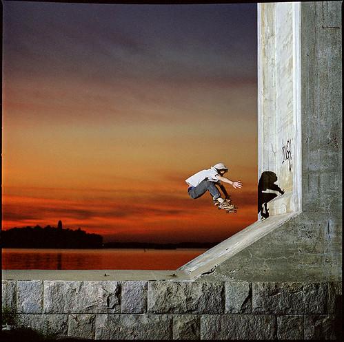 ocean finland skateboarding hasselblad dakine naantali kodakportra400nc miikasandelin turunseutu skateboardsundays