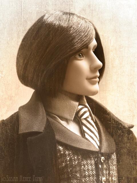 Mortimer Mort Vintage Profile Portrait