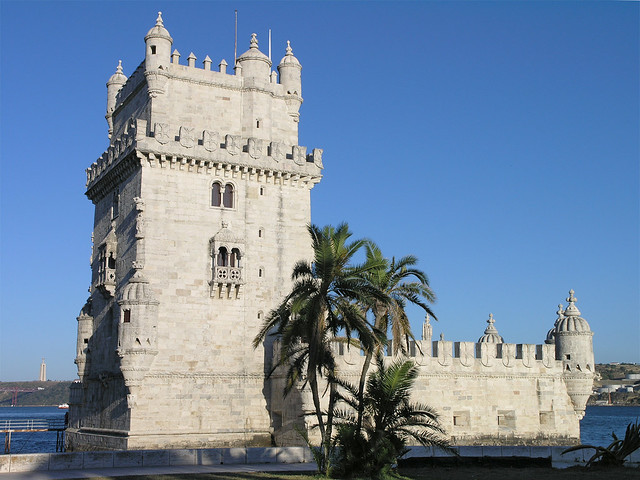 Lisbon - the Belém Tower and the palms