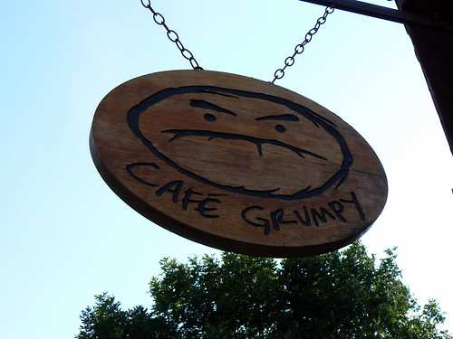 Cafe Grumpy Sign, Meserole Ave