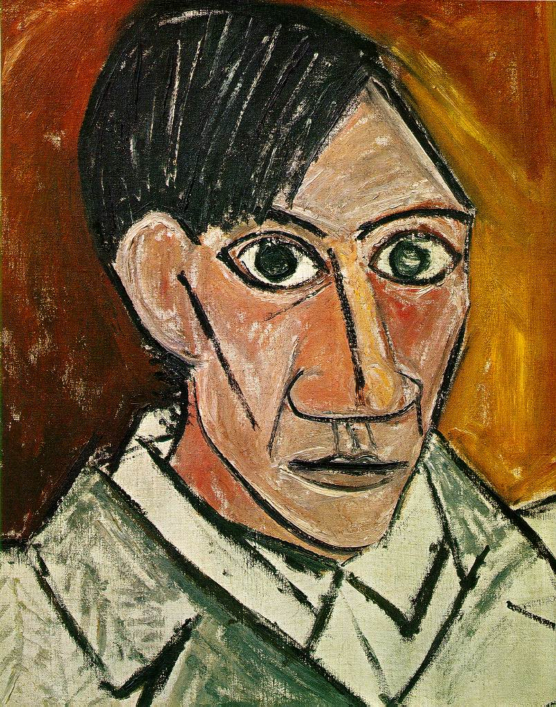 Picasso, self portrait, 1907