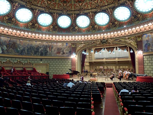 The main concert hall in the Ateneul Român, Bucharest, Romania