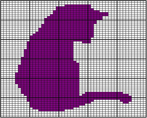 Kitten Knitting Chart : Cat silhouette chart a flickr photo sharing