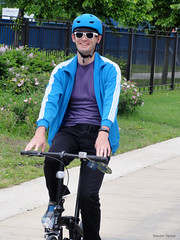 Me on a single-speed folding bike