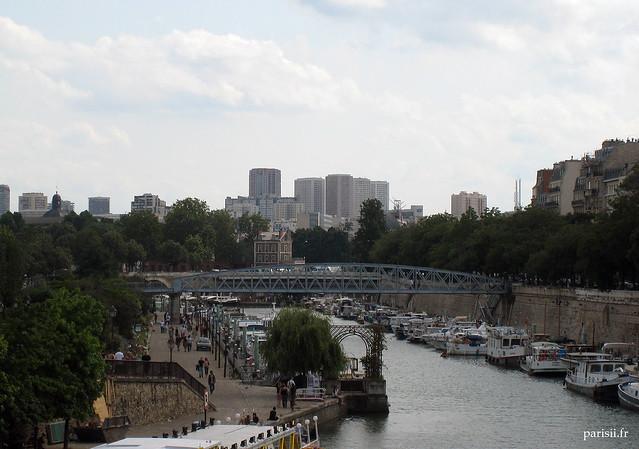 Visite de la place de la bastille le blog de paris - Port de l arsenal bastille ...