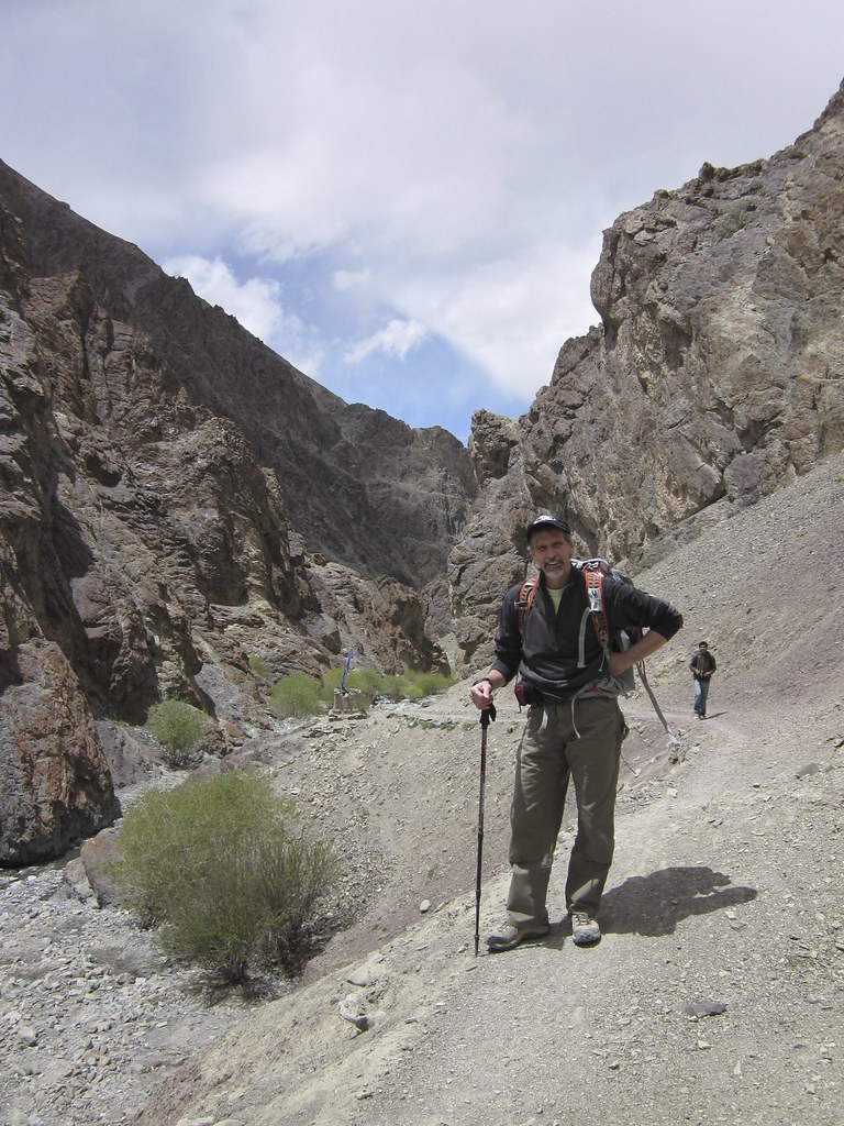Dr. Tom McCarthy on a hike, India
