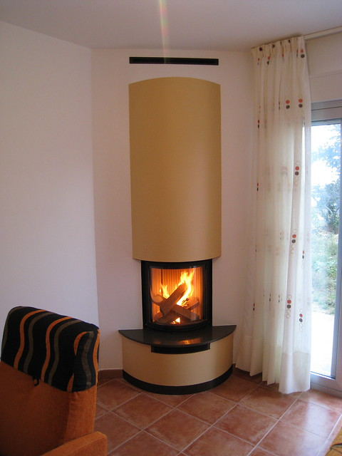 Chimenea quento circular peque a en esquina flickr photo sharing - Chimenea en esquina ...