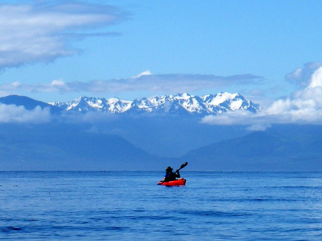 The Olympic Mountains from Victoria