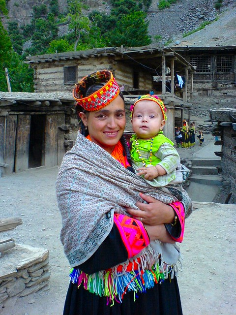 Kalash Woman With Her Baby