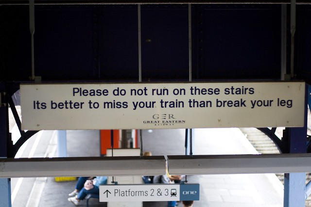 Funny sign at my local station