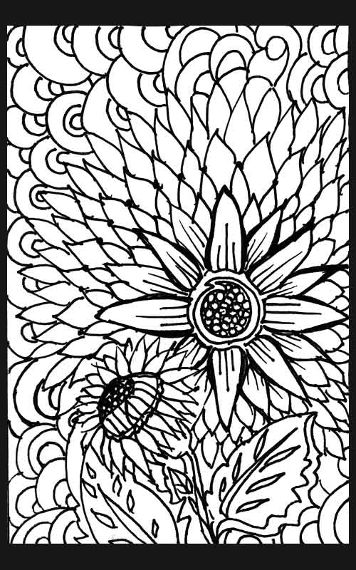 Pattern Colouring Pics : Flower patterns colouring pages