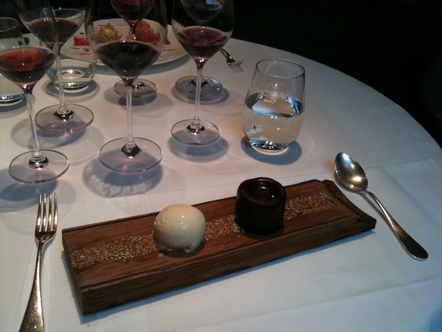 Smoked chocolate fondant with Laphroaig ice cream (Launceston Place ...