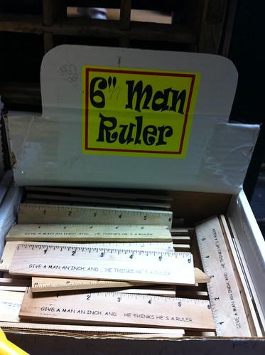 6 Inch Man Ruler