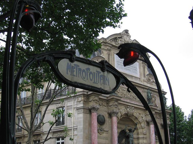 0166 saint michel metro entrance paris metro by - Metro saint michel paris ...