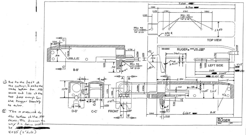 ruger 10-22 receiver blueprint