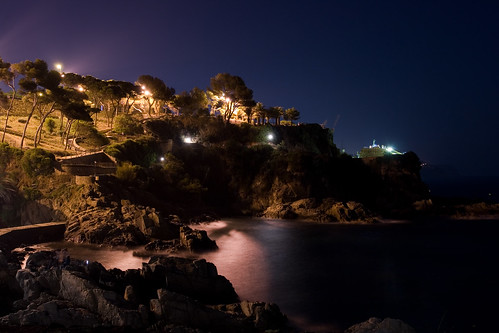 Lloret de Mat at night.