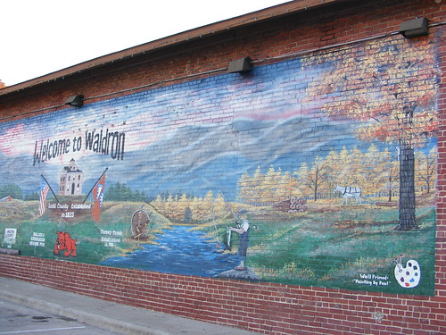 Waldron Arkansas History Mural Waldron Arkansas