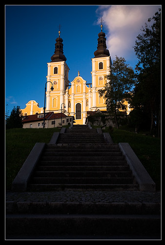sunset church austria hill graz styria