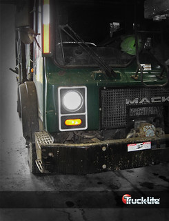 "7"" Round LED Headlamp on Waste Vehicle"