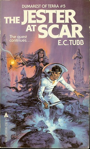 Dumarest Saga Book 5 - Jester at Scar - E.C. Tubb - cover artist Paul Alexander