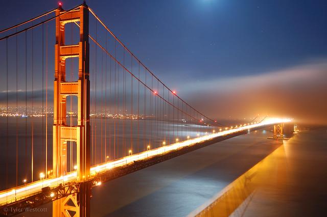 Golden Gate, by Moonlight [2]
