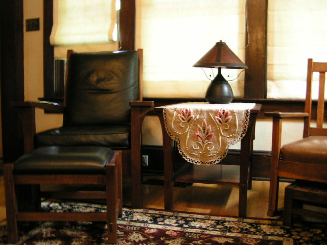mission style living room stickley reproduction lounge cha