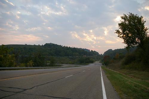 Old National Road alignment, east of Hendrysburg, Ohio