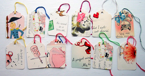 vintage greeting card gift tags