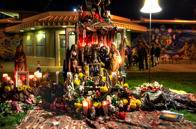Native American Day of the Dead Shrine, Handheld HDR