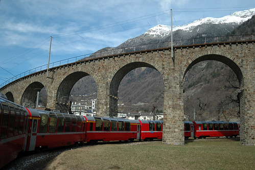 Bernina Express 953 @ Brusio