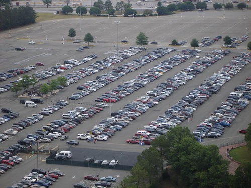 King's Dominion Parking Lot (taken from the top of the Eiffel Tower)