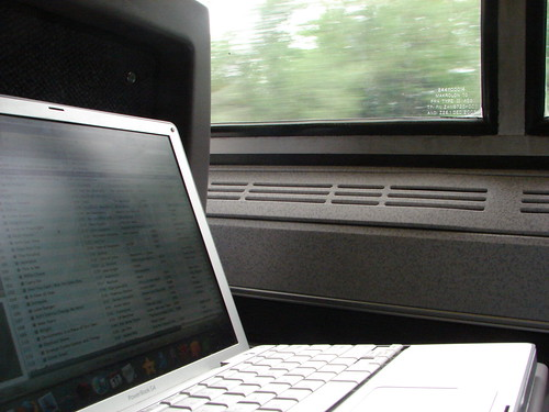 Laptop on the Train