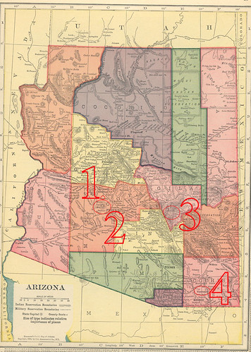 Map of Arizona, 1904 - with numbers by me!