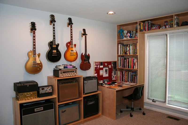 Wall Decor Ideas Music Room : Wall hanging guitars what spacing the gear page