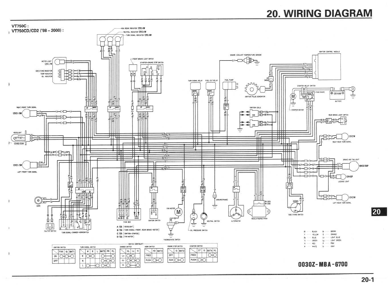 Honda Shadow Vlx 600 Wiring Diagram    Eightstrings