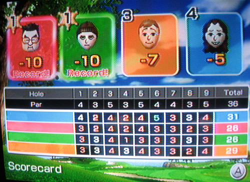 Two times ten - Wii Golf   :o)
