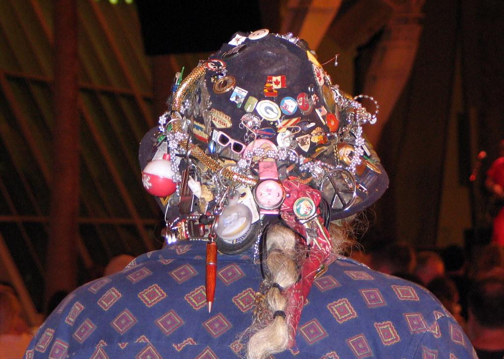 Weird Hat on Fremont Street, Las Vegas | An unusual hat seen