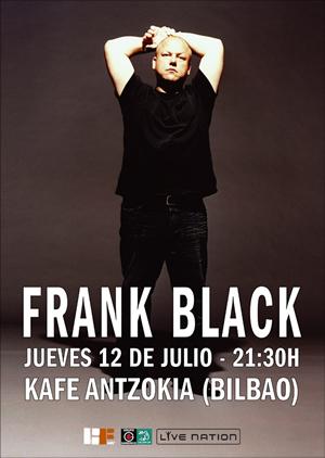 Cartel del concierto de Frank Black en Bilbao