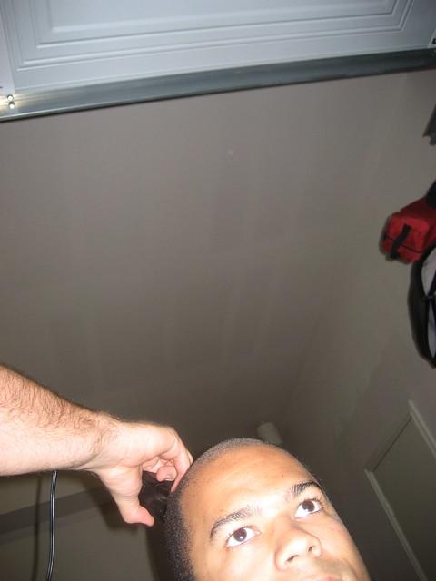 Self injury shaved head