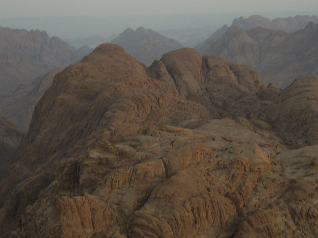 Peak of Mt Sinai where Moses received the 10 Commandments