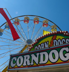 Note to self:  FIRST Corn Dogs, THEN Ferris Wheel
