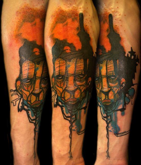 Graffiti street art face flickr photo sharing for Vintage tattoo art parlor