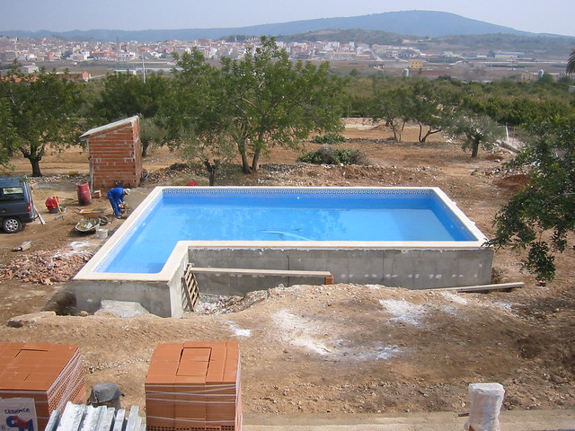 Cyprus swimming pool construction cyprus swimming pool for Concrete pool construction