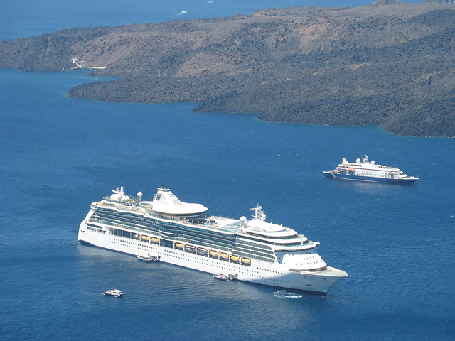 Brilliance of the Seas in Santorini