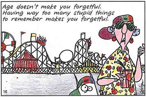 Maxine Cartoons on Aging Maxine Age Forgetful by