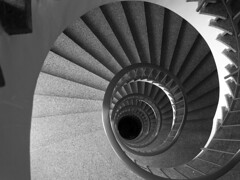spiral, symmetry, white, line, monochrome photography, circle, monochrome, black-and-white, black,