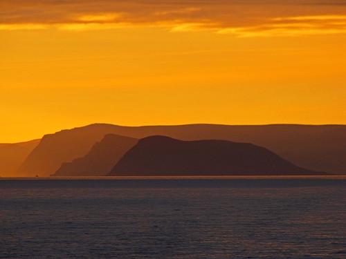 sunset norway geotagged sundown fjord hurtigruten nordkapp mageroya kafjorden finnmarkfylke geo:lat=7098074245 geo:lon=2649353003