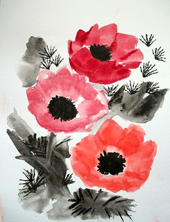chinese-style poppies