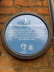 Photo of St Christopher's Church, Norwich blue plaque