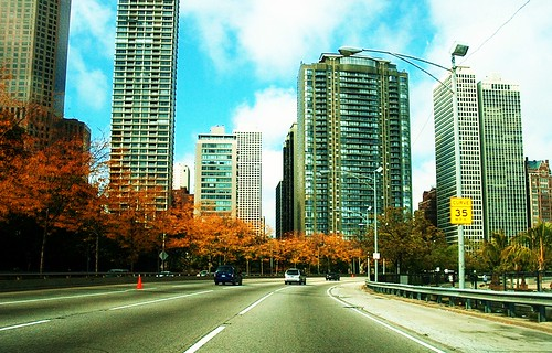 Autum on Chicago's Lakeshore Drive. Chicago Illinois USA. October 2006. by Eddie from Chicago